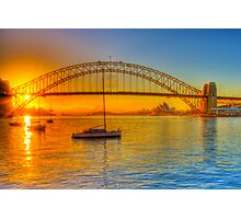Sydney Harbour bridge - gold to blue Photographic Print