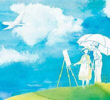 Watercolor Decor ft The Wind Rises  by ploveprints