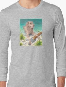 Chesapeake Bay Retriever Dog Cathy Peek Art Long Sleeve T-Shirt