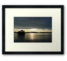 Boats - Ferry Boat Framed Print