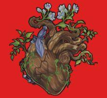 Heart - Wood One Piece - Long Sleeve