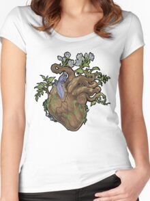 Heart - Wood Women's Fitted Scoop T-Shirt