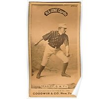 Benjamin K Edwards Collection Pat Deasley New York Giants baseball card portrait Poster