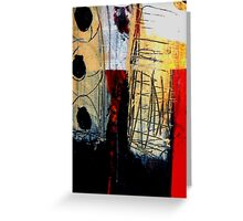 Togetherness Abstract Painting Greeting Card