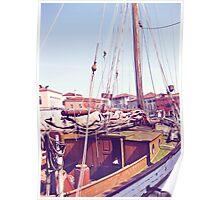docked in venice Poster