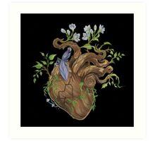 Heart - Wood Art Print