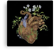 Heart - Wood Canvas Print