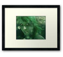 a deception in green Framed Print