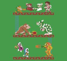 8 Bit Smash Bros. Kids Tee