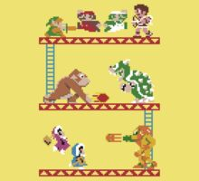 8 Bit Smash Bros. Kids Tee