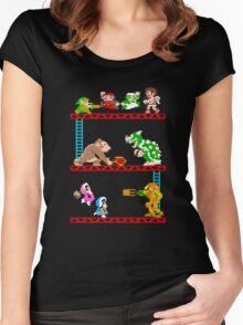 8 Bit Smash Bros. Women's Fitted Scoop T-Shirt