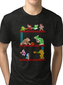 8 Bit Smash Bros. Tri-blend T-Shirt