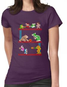 8 Bit Smash Bros. Womens Fitted T-Shirt