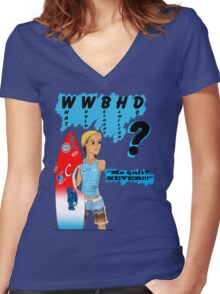 What Would Bethany Hamilton Do? Women's Fitted V-Neck T-Shirt