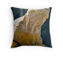 Land Iguana, South Plaza, Galapagos Throw Pillow
