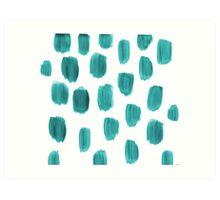 Handpainted Brush Texture Art Print