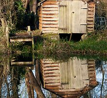Boat-house at Cringle Wood by Gary Rayner