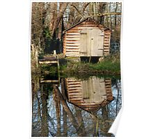 Boat-house at Cringle Wood Poster