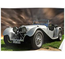 SS100 Jag Roadster Poster