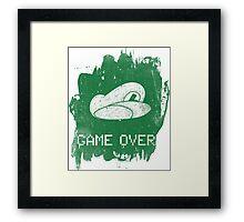 Game Over Luigi Framed Print