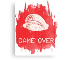 Game Over Mario Canvas Print