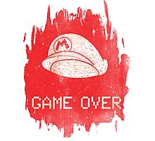 Game Over Mario Photographic Print