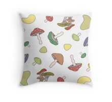 Mushrooms Pattern Throw Pillow