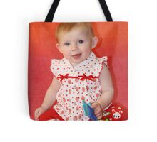 Our Little Redhead at Six Months Tote Bag