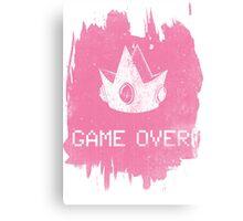 Game Over Princess Peach Canvas Print