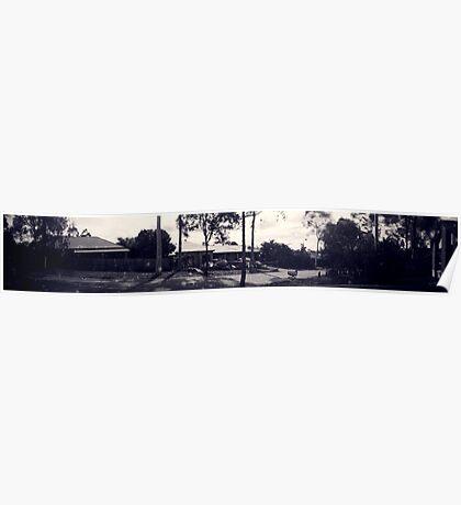 Suburban pinhole panorama Poster