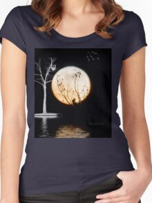 Super Moon Light (T-Shirt) Women's Fitted Scoop T-Shirt