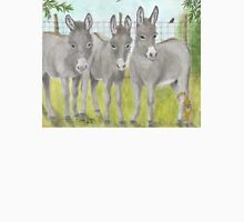 Mini Donkey's Farm Animals Cathy Peek Art Unisex T-Shirt