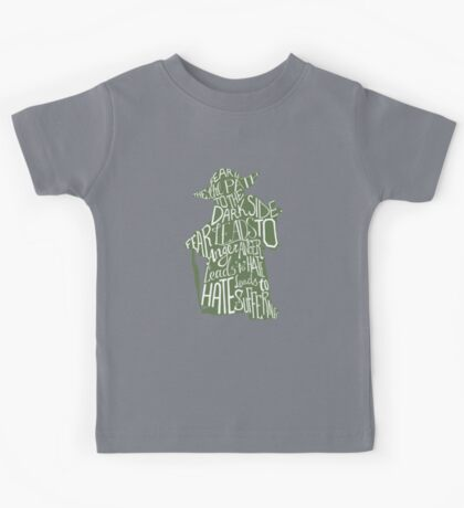 Fear is the Path to Darkside typography design Kids Tee