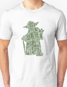 Star Wars Yoda Quote Fear is the Path to Darkside T-Shirt