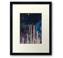 Tin Hau Temple, Shek O, Hong Kong - joss sticks Framed Print
