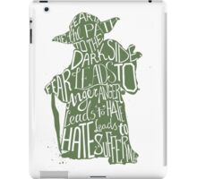 Star Wars Yoda Quote Fear is the Path to Darkside iPad Case/Skin