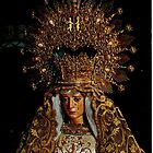 Spanish Madonna - elaborate head-piece. by Ian A. Hawkins