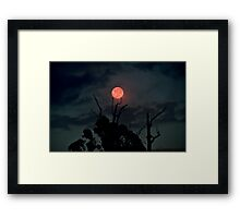 Catch A Red Moon Framed Print
