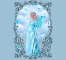Aquamarine Birthstone Fairy Womens Fitted T-Shirt