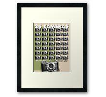 35 Cameras - diax zero Framed Print
