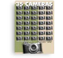 35 Cameras - diax zero Canvas Print