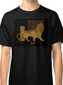 Golden Lion Modern composition, gold black brown Classic T-Shirt