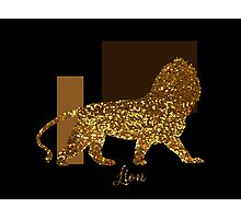 Golden Lion Modern composition, gold black brown Photographic Print