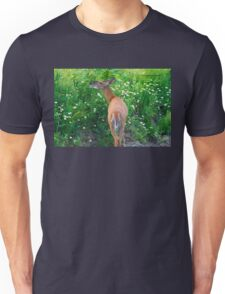 Flower Salad for Breakfast (White Tail Deer) Unisex T-Shirt