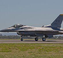 USAF F-16 with a wave by Bairdzpics