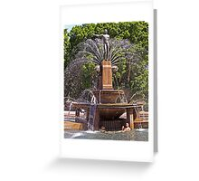 From the Sublime to the Ridiculous - Archibald Fountain Idiots Greeting Card