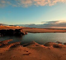 Cleveleys Beach Evening by John Hare