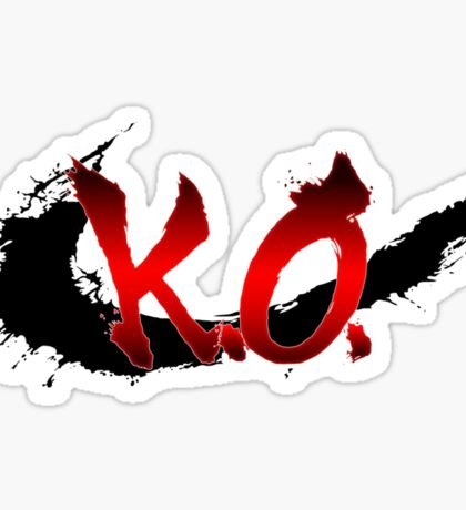 Street Fighter K.O. Sticker