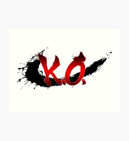 Street Fighter K.O. Art Print