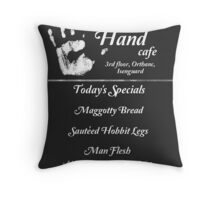 The White Hand Cafe Throw Pillow